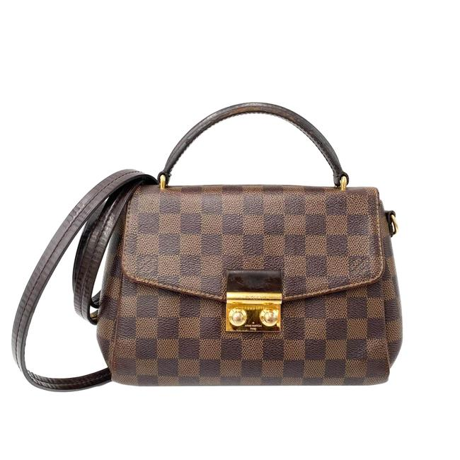 Louis Vuitton Croisette Damier Ebene Brown Canvas Shoulder Bag