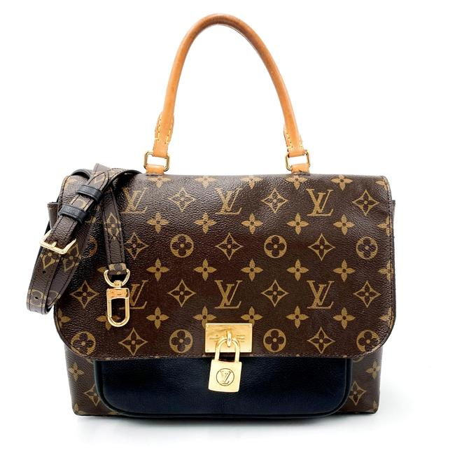 Louis Vuitton Marignan Monogram Black Canvas Shoulder Bag