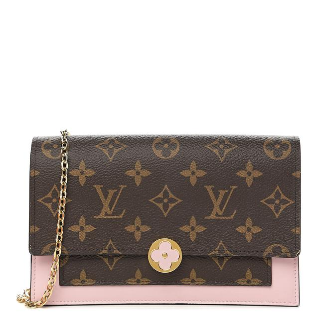 Louis Vuitton Flore Chain Wallet Rose Ballerine Pink Monogram Canvas Shoulder Bag