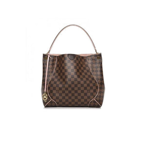 Louis Vuitton 2015 Caissa Hobo Damier Ebene Rose Ballerine Tote Shoulder Bag