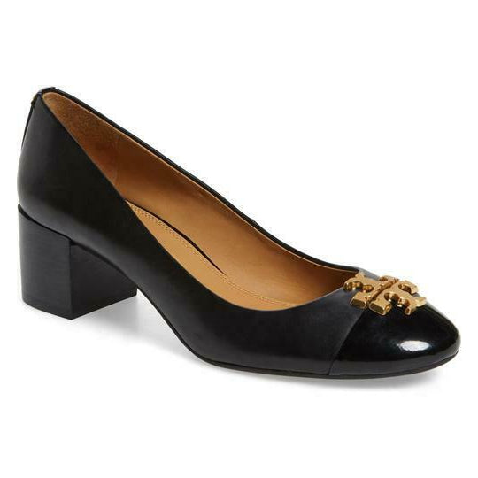 Tory Burch Black Everly Cap Toe Pumps