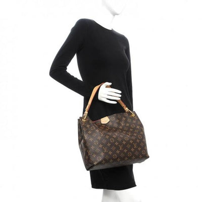 Louis Vuitton Graceful Pm Pivoine Brown Monogram Canvas Tote