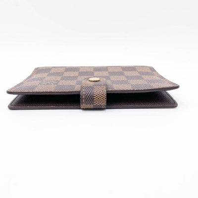 Louis Vuitton Brown Damier Ebene Pm Ring Agenda Cover Wallet