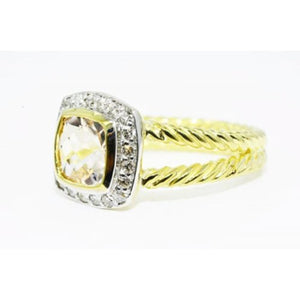 $4,300 2.02CT AUTHENTIC DAVID YURMAN MORGANITE & DIAMOND ALBION RING 18K