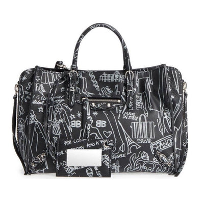 Balenciaga Mini Paper A6 Black Leather Tote $1890
