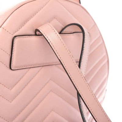 Gucci GG Marmont Calfskin Matelasse Light Pink Backpack