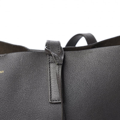 Saint Laurent Shopping Calfskin Large Dark Grey Leather Tote