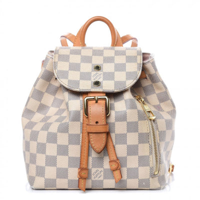 Louis Vuitton Sperone Bb White Damier Azur Canvas Backpack