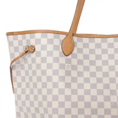Louis Vuitton Neverfull Neo Damier Azur Gm Rose Ballerine White Canvas Tote