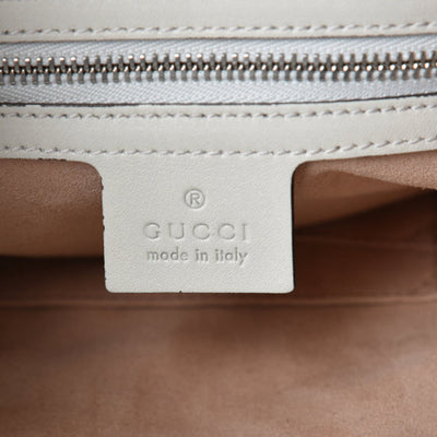 Gucci Dionysus Calfskin Quilted Small White Leather Hobo Bag