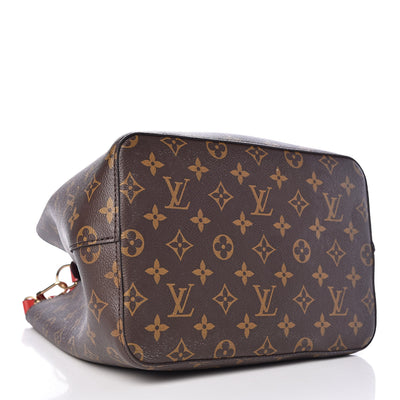 Louis Vuitton Neonoe Coquelicot Brown Monogram Canvas Shoulder Bag