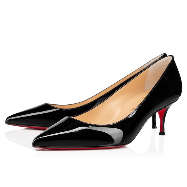 Christian Louboutin Black Kate 55 Mm Patent Leather Pumps Size 37