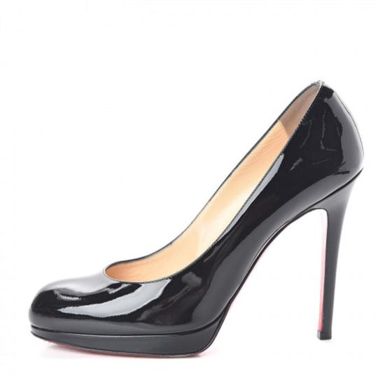 Christian Louboutin Black Patent Calf New Simple 120 37 Pumps