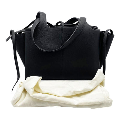 Celine Tri-Fold Baby Grained Calfskin Small Black Leather Tote