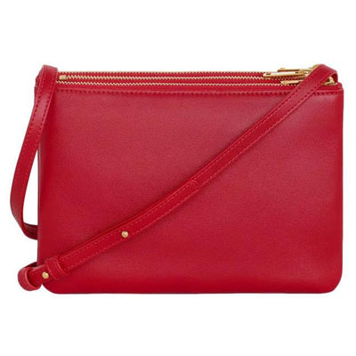 Celine Trio Lambskin Small Red Leather Cross Body Bag