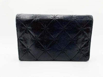 Chanel Black Cc Quilted Small Flap Wallet