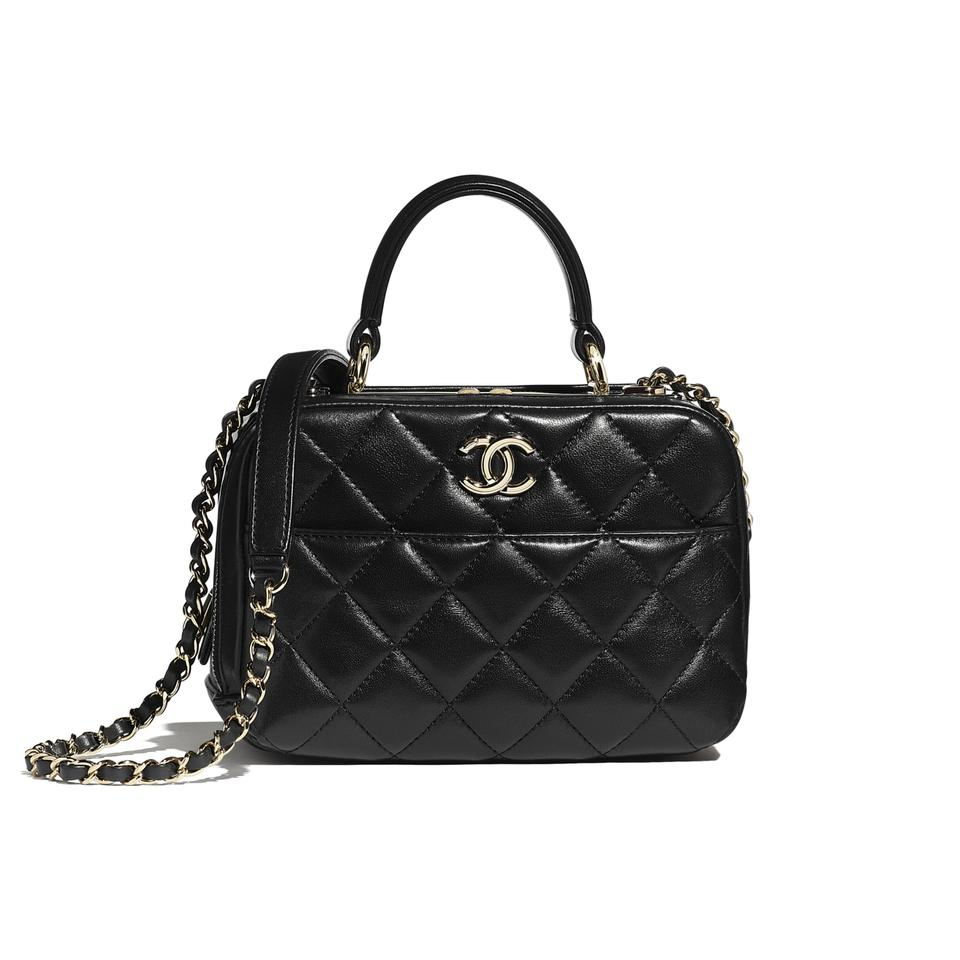 Chanel Bowling 2020 Small Gold-tone Metal Black Lambskin Leather Shoulder Bag