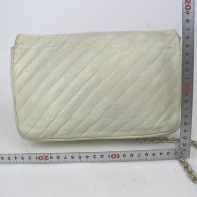 Chanel Classic Lambskin Quilted Small Single Flap White Leather Shoulder Bag