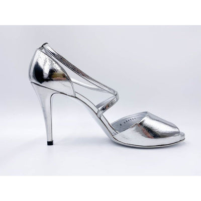 Chanel Silver 85mm Cc Sandals Pumps