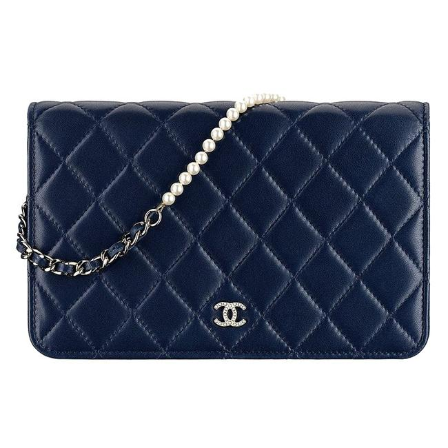 Chanel Wallet on Chain Quilted Pearl Woc Black Lambskin Leather Shoulder Bag