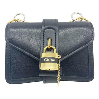 Chloe Aby Mini Black Leather Shoulder Bag