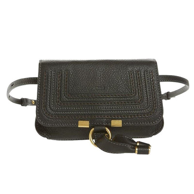 Chloé Belt Marcie Convertible Black Leather Messenger Bag