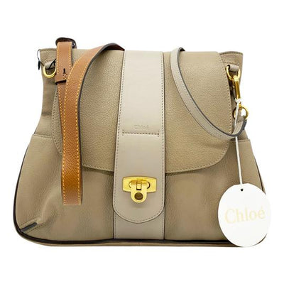 Chlo� Lexa Medium Motty Grey Leather Shoulder Bag