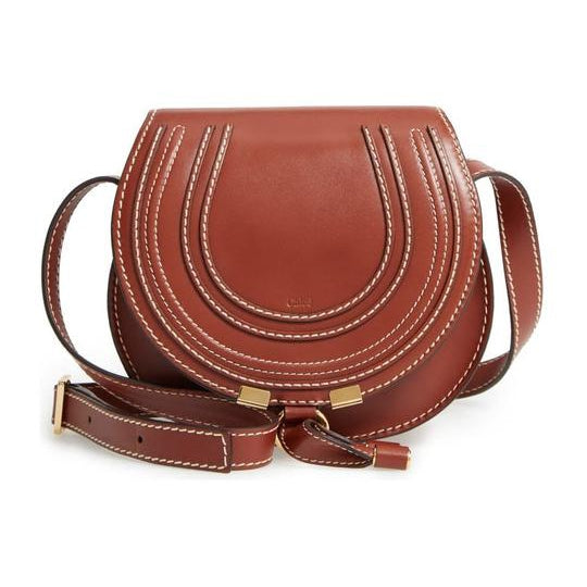Chloe Marcie Small Round Brown Leather Cross Body Bag