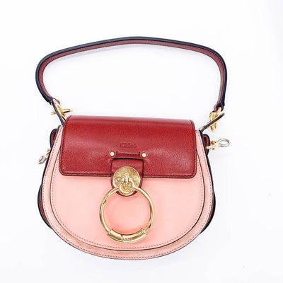 Chloe Tess Small and Suede Pink Leather Shoulder Bag