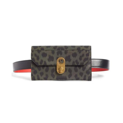 Christian Louboutin Belt Elisa Chain Black Nylon Shoulder Bag