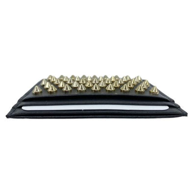 Christian Louboutin Black Kios Spiked Calfskin Leather Card Case Wallet