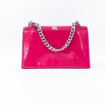 Christian Louboutin Mini Elisa Pink Patent Leather Shoulder Bag