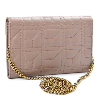 Gucci GG Marmont Chain Matelasse Pearl Mini Porcelain Rose Pink Calfskin Leather Shoulder Bag