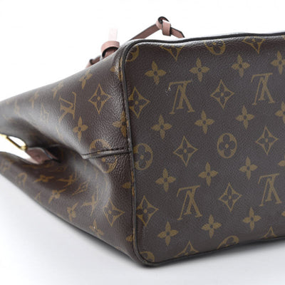 Louis Vuitton Monogram Neonoe Mm Rose Poudre Brown Canvas Shoulder Bag