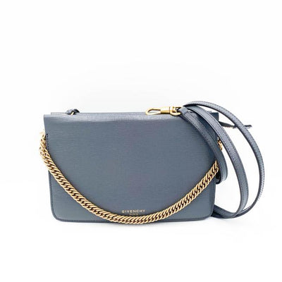 Givenchy Crossbody Cross Grey Leather Shoulder Bag