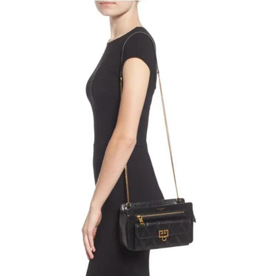 Givenchy Crossbody Diamond Quilted Black Leather Shoulder Bag