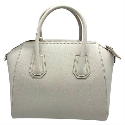Givenchy Small Antigona Natural Grey Beige Leather Satchel