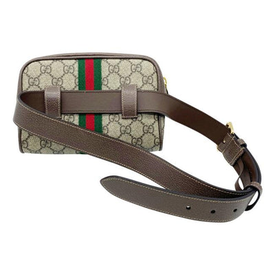 Gucci Belt Small Ophidia Brown Gg Supreme Canvas Messenger Bag