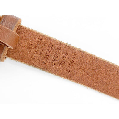 Gucci Brown Faded Calfskin Double G 70 28 Belt