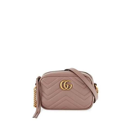 Gucci Camera Marmont Gg Mini Matelasse Nude Beige Leather Shoulder Bag