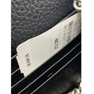 Gucci Chain Wallet Dionysus Black Leather Cross Body Bag