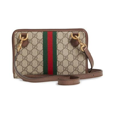 Gucci Crossbody Ophidia Brown Gg Supreme Canvas Shoulder Bag