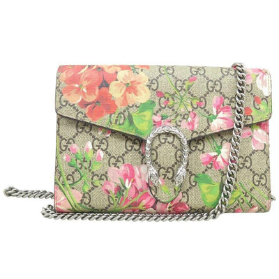 Gucci Dionysus Chain Blooms Mini Supreme Multicolor Beige Canvas Shoulder Bag