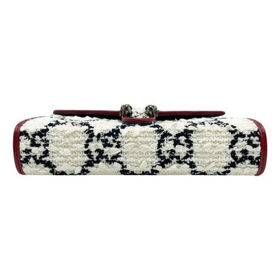 Gucci Dionysus Chain Shoulder Mini Gg White Tweed Cross Body Bag