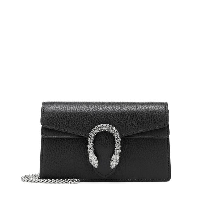 Gucci Dionysus Super Mini Black Leather Cross Body Bag