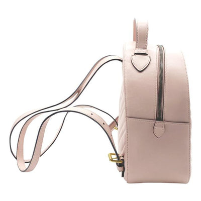 Gucci GG Marmont Calfskin Matelasse Light Pink Leather Backpack