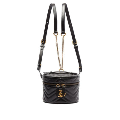 Gucci Marmont Black Leather Backpack
