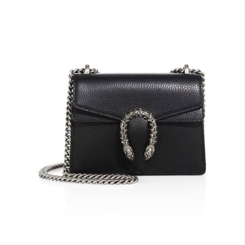 Gucci Mini Dionysus Black Leather Shoulder Bag
