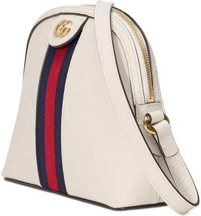 Gucci Ophidia Small White Leather Shoulder Bag