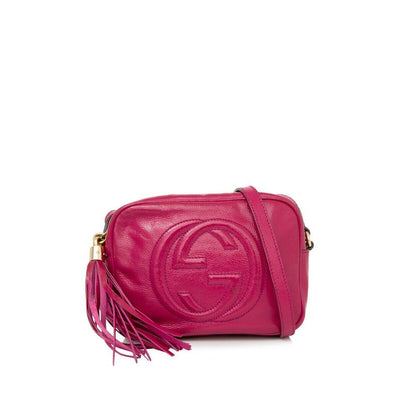 Gucci Soho Disco Patent Tassel Pink Leather Cross Body Bag